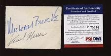 Michael Burke & Frank Messer Autographed Cut PSA/DNA