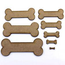 Bone Craft Shape, Embellishment, Decoration, 2mm MDF Wood. Animal, Pet, Dog