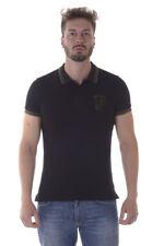 Polo Versace Jeans Polo Shirt % PIQUET COTTON PLAIN Uomo Nero B3GOA7P1-899