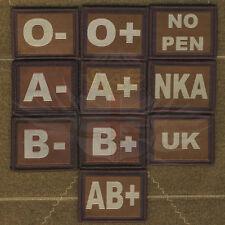 TAN & GREEN BLOOD,ALLERGY PATCH-A+,A-,B+,B-,O+,O-,NO PEN,NKA VELCRO® BRAND HOOK