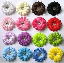 "2"" Gerbera Daisy Flower Hair Clip Fascinator for Baby Girls Child Hair Head"