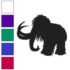 Mastodon Mammoth Decal Sticker Choose Color + Size #757