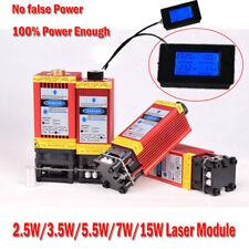 450nm 2.5W-15W Blue Laser Module & Heatsink For Laser Cutter Engraver DIY Laser
