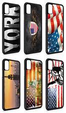 iPhone Silikon Slim Handyhülle Case Cover Schutz USA Amerika New York Fahne Flag