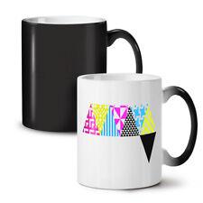 Triangle Geometric NEW Colour Changing Tea Coffee Mug 11 oz   Wellcoda