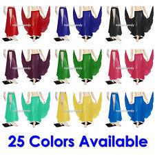 25 Color Chiffon Panel Skirts Belly Dance Tribal Slit Full Circle Flamenco Gypsy