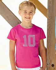 Cualquier cantidad (1 a 99) rhinestone/diamant é embellecido T Shirt Regalo Para Niñas