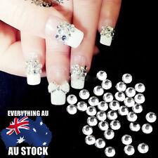 Clear Crystal Flatback Rhinestone Diamante For Nail Art Tip Decoration NO Hotfix