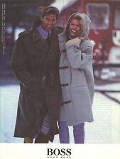 PUBLICITE  1998   HUGO BOSS haute couture trench en laine & duffle coat