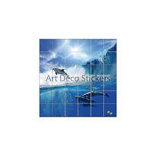 Adesivo piastrelle mural, maiolica, decocrazione cucina ou bagno Delfini ref 832
