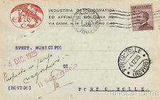 * BOLOGNA - Testatina Pubblicitaria - Industria Dattilografica 1925