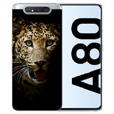 Samsung Galaxy A80 Individuelle Handy Hülle Silikon TPU mit Leopard Bilddruck