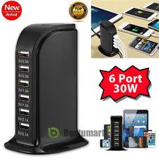Multi-Port USB Charger 6A Fast Charging Station Cradle Desktop Travel Hub iPhone