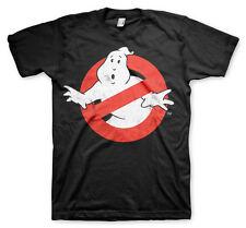 Licenza ufficiale Ghostbusters con effetto invecchiato LOGO 3XL, 4XL, 5XL T-shirt Uomo