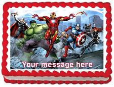 THE AVENGERS Comics Image Edible Cake topper design