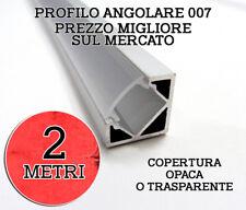 PROFILO ALLUMINIO ANGOLARE 007 2 METRI COPERTURA OPACA TRASPARENTE
