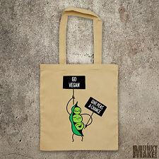 PEA Protest-go végétalien donner pois une chance sac cabas sac veggie animal rights