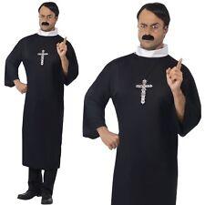 Uomo Costume prete uomo Vicario Padre Outfit Da Smiffys Nuovi