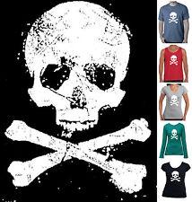 Old Skull Bones T-Shirt Singlet Men's Women's size pirate retro jolly roger Top