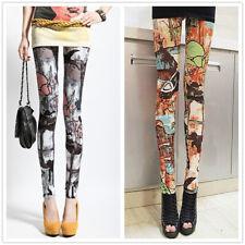 Sexy Women Digital Galaxy pattern  Printed MIlk Legging Fitness 9271 1pc