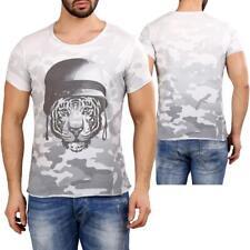 Redbridge by Cipo Baxx Maglietta Uomo Wild Tigre Camicia di design BIKER MC