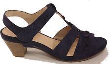 CAPRICE Schuhe Sandalen Riemchen Sandaletten Plateau blau echt Leder Nubuk NEU