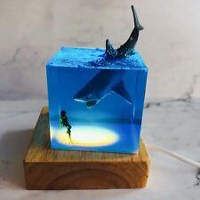Shark Diver Decoration Fish Ocean Animal Collector Luminous Toy Creative Gift