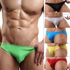 Sexy Mens Lingerie Low Rise Bikini Brief Hipster Underwear Smooth Thong Swimwear