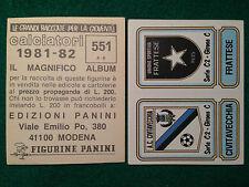 CALCIATORI 1981-82 81-1982 n 551 CIVITAVECCHIA FRATTESE SCUDETTO Figurina Panini