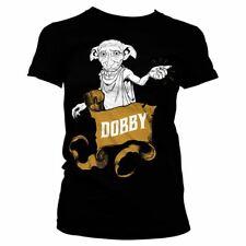 Oficial Mujer Harry Potter Dobby LA CASA elfo Camiseta Ceñida Tallas S-XXL