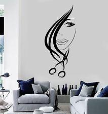 Vinyl Wall Decal Hair Salon Scissors Stylist Beauty Hairdresser Stickers ig4532