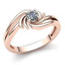 1/3ctw Round Cut Diamond Ladies Solitaire Anniversary Engagement Ring 14K Gold