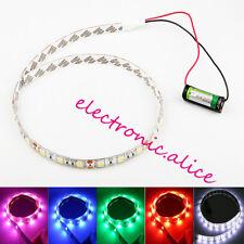 Battery Powered LED Strip 5050 SMD 50CM White Waterproof Flexible LED Strip
