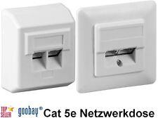 Abgeschirmte Cat5e Netzwerkdose 2xRJ45x8 Aufputz oder Unterputz cat 5e goobay®