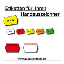 Auszeichnungsetiketten, Preisetiketten, Etiketten für Handauszeichner 26 x12 mm