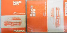 1989 Mazda MPV Service Shop Repair Manual Set FACTORY OEM RARE How to FIX M P V