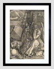 85756 ALBRECHT DURER GERMAN MELENCOLIA BLACK FRAME Decor WALL PRINT POSTER FR