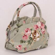 Flower Women Lady Bag Zipper Pocket Canvas  Simple Casual Handbag