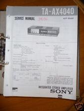 Service-Manual für Sony TA-AX4040 Amplifier, ORIGINAL!