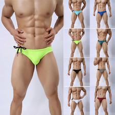 Mens Boxer Briefs Swimming Trunks Speedos Swim Shorts Low Rise Bikini Underwear