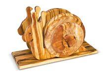 PORTATOVAGLIOLI: bassorilievo in legno di olivo forma animale