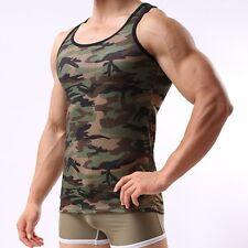 2017 neue männer tarnung-sport-weste bodybuilding fitness tank tops t-shirt