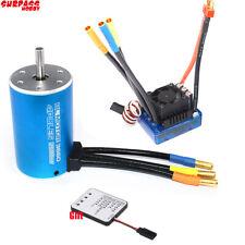 3660 Sensorless Brushless Motor with 80A ESC & LED Programming Card for 1/10 RC