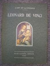 LEONARD DE VINCI L'Art Et La Couleur, 1931, 8 Prints