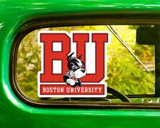 2  BU BOSTON UNIVERSITY TERRIERS STICKER Decal Bogo For Car Bumper Laptop window