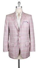 $7500 Kiton Lavender Purple Cashmere Blend Plaid Sportcoat - (595)