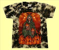T-Shirt Sensenmann Feuer, Gr.86*92*98*104*110*116, Totenkopf Gothic Halloween