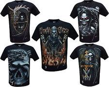 Nuevos niños GRIM REAPER Calavera Dragón brillan en la oscuridad Camiseta, impresión frontal y trasero