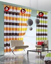 Gardinen Vorhang Fertigvorhänge Store Schal Kräuselband-Vorhang STREIFEN 2