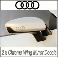 AUDI CHROME WING MIRROR DECALS STICKERS VINYL MOD   X2  Body,Glass,Door Graphics